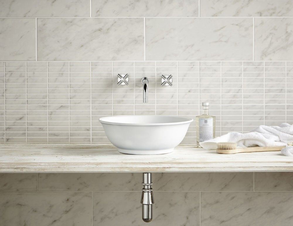 Carrara Marble Mosaic Wall Tile   Wall Tiles From Tile Mountain