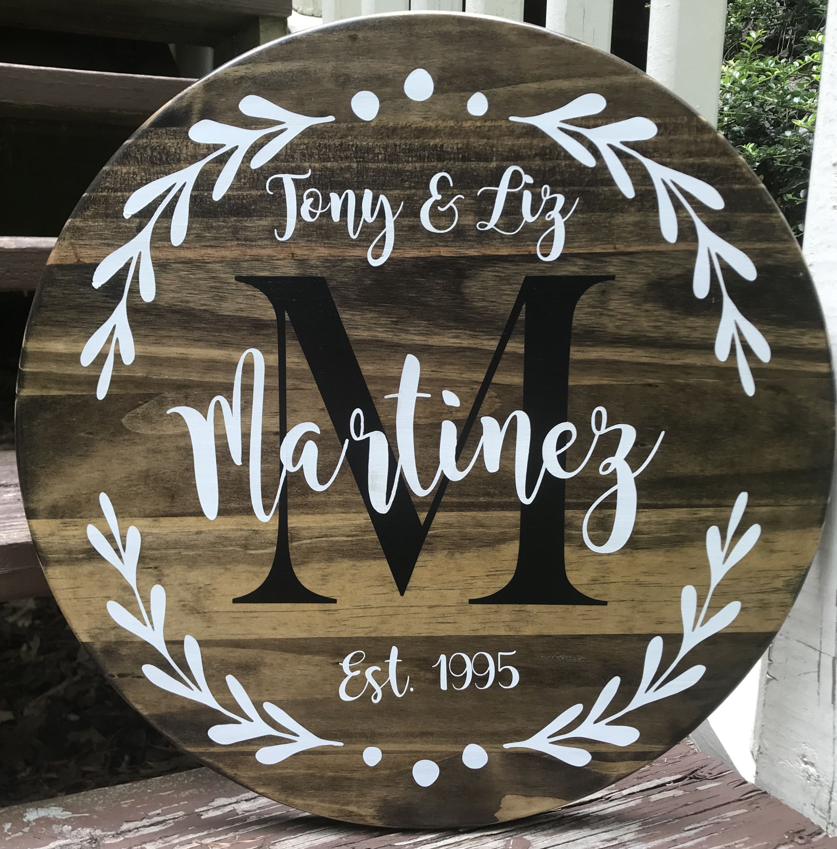 Family Established Wood Signs Personalized Family Wood Sign Etsy Family Wood Signs Last Name Wood Sign Round Wood Sign