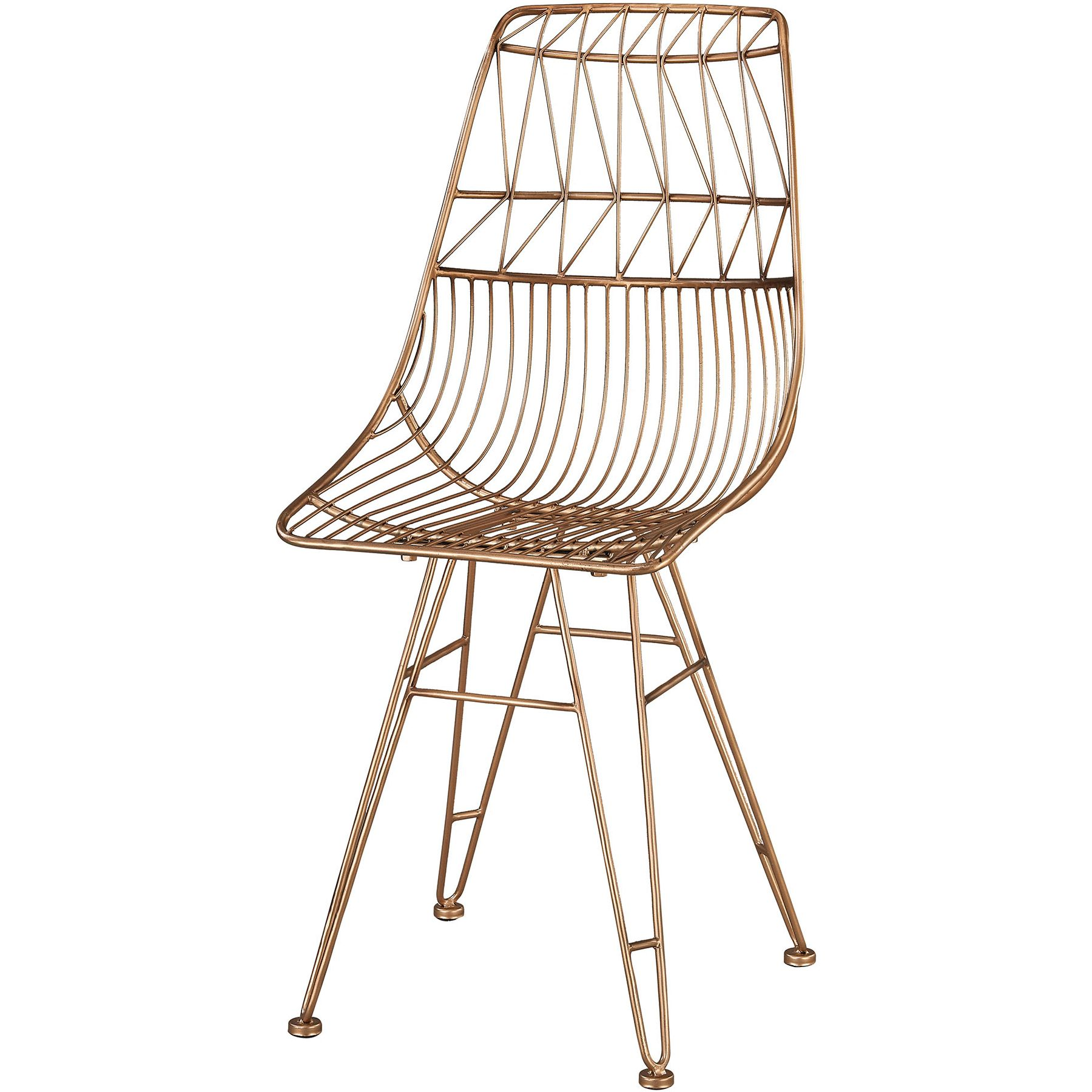 Sterling Industries Jette Accent Chair in Rose Gold Geometric