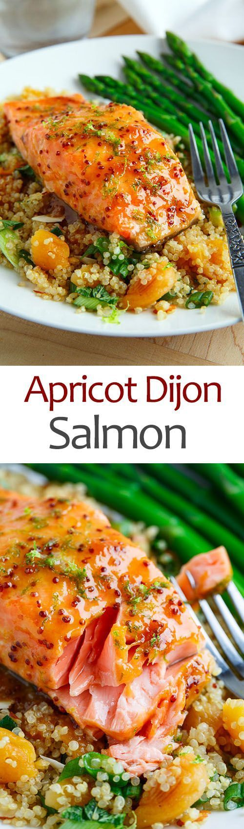 Photo of Apricot Dijon Glazed Salmon