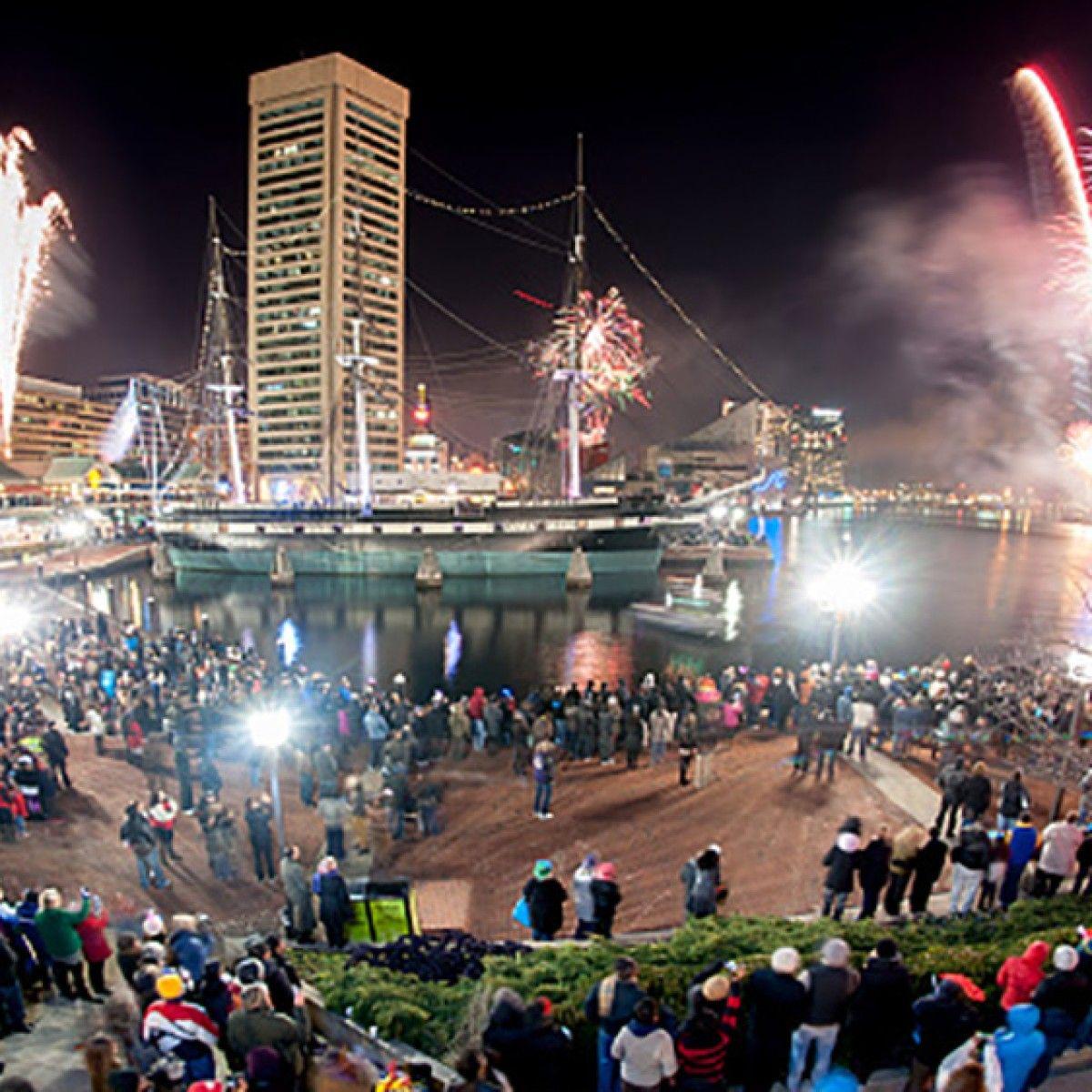 Celebrate NYE at the Inner Harbor Baltimore city, Auld