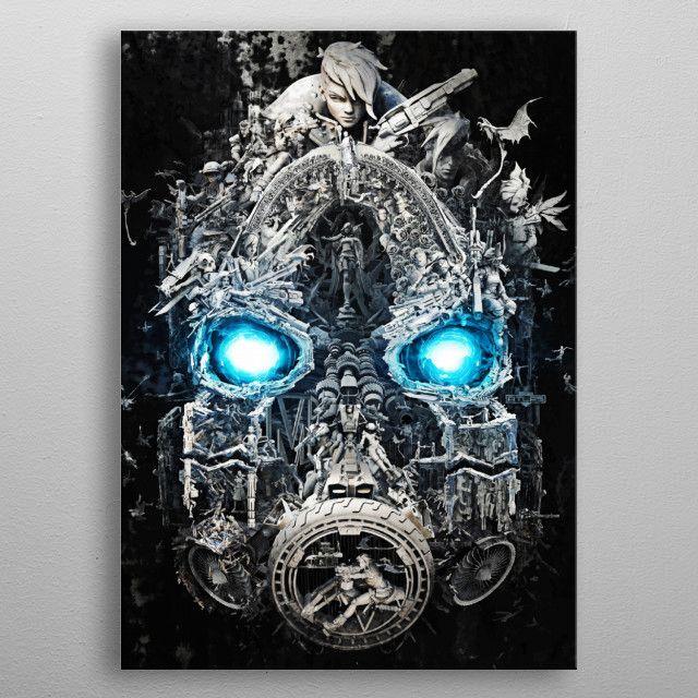 Borderlands 3 metal print | Displate thumbnail
