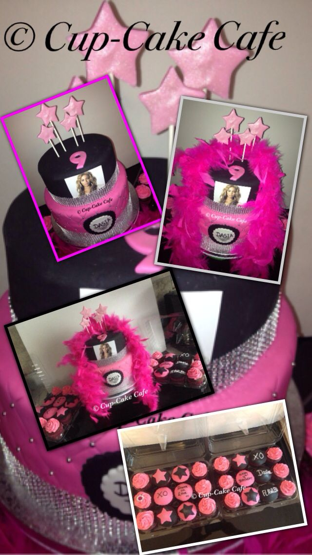 beyonce taart Diva Cake with Beyonce pic & Cupcakes http://.facebook. beyonce taart