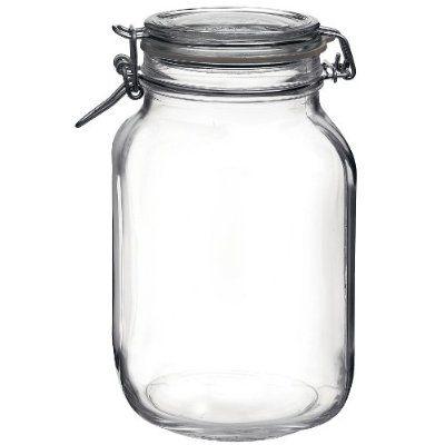 Bormioli Rocco Fido Round Clear Jar 67 3 4 Ounce Glass Canning Jars Glass Jars With Lids Hermetic Jars