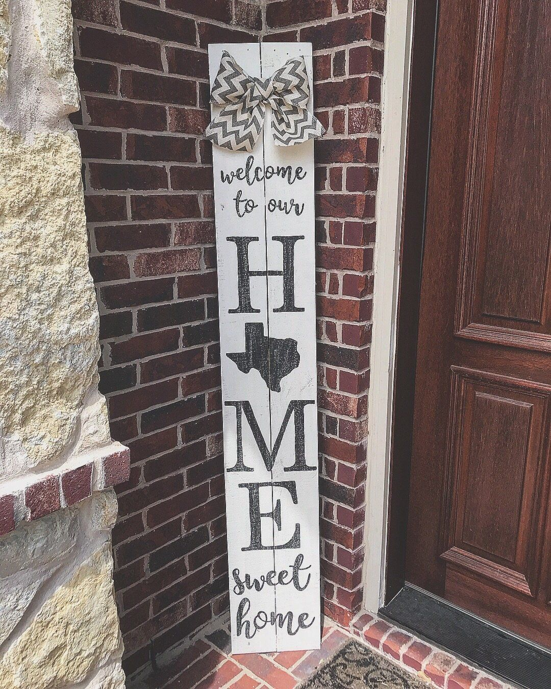6ft Welcome To Our Home Sweet Home Tx Porch Sign Porch Signs Welcome Signs Front Door Diy Wood Signs