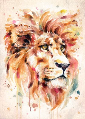 'All Things Majestic (lion wate…' Metal Poster Print – Sillier Than Sally    Displate