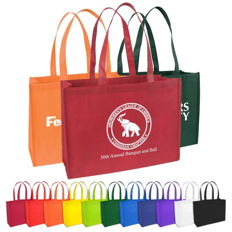 Standard Nonwoven Tote Bag With Gusset Canvas Bags