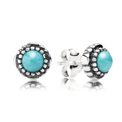 December Birthstone Stud Earrings