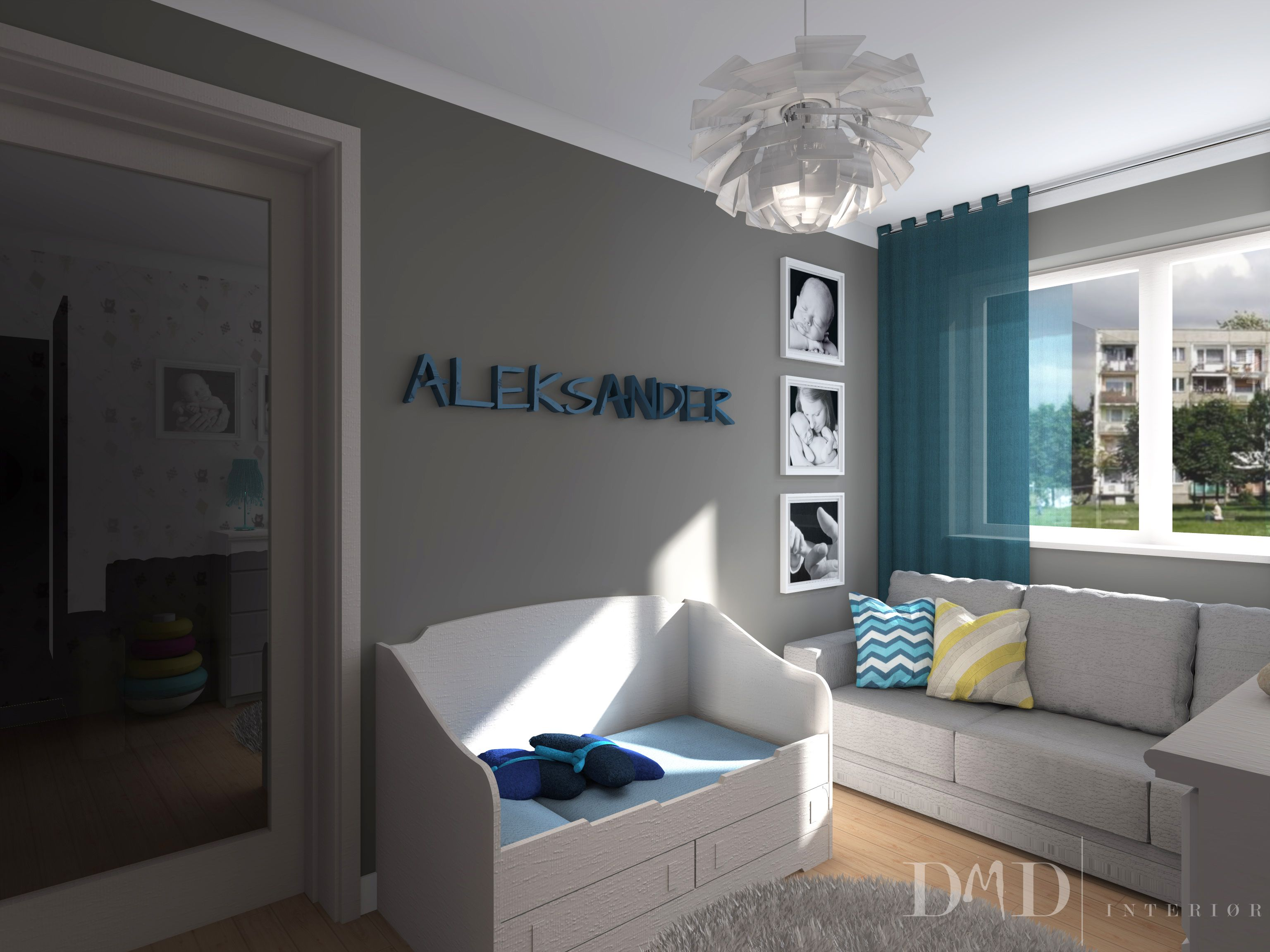 Interior design project for newborn baby boy- DMD interiør Bergen | Archicad 16 | Artlantis 4 www.dmdinterior.no