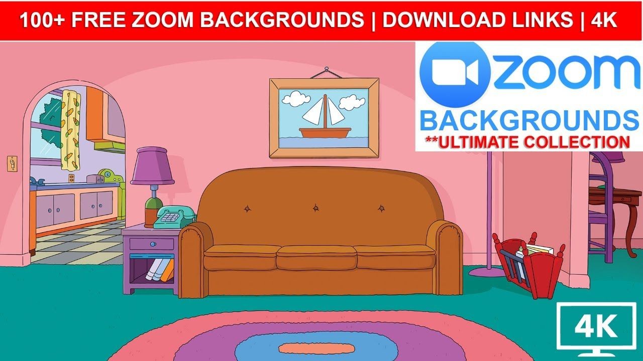 Free Ultimate Zoom Backgrounds Collection Free Download The Simpsons Disney Pixar Tiger King The Simpsons Disney Pixar Disney