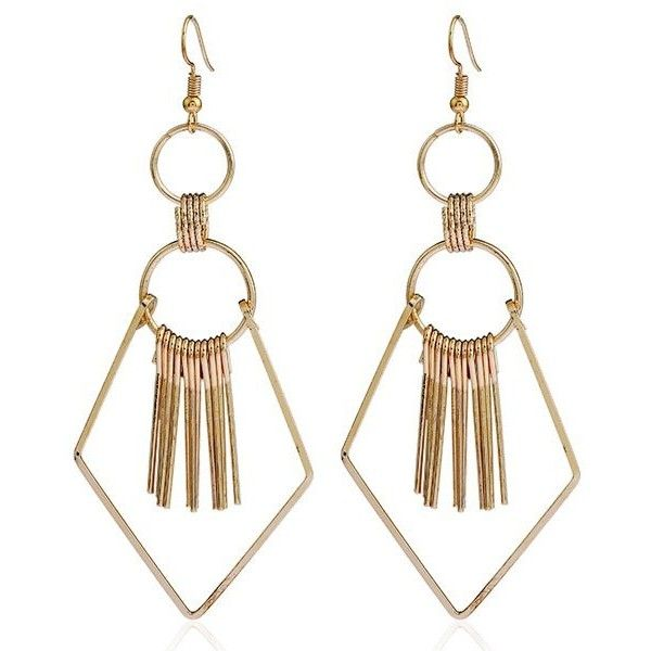 f5896f3682c5 Tassel Geometry Drop Earrings (€2