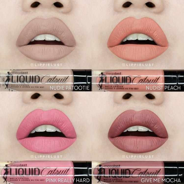 Set 1 Wet N Wild Liquid Catsuit Lipstick Review Hair Makeup