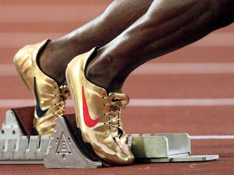 Nike Michael Johnson Golden Track Spikes 1996 Olympics Atletismo