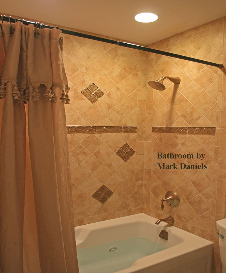 Small Bathroom Tile Ideas Photos Glass Tile Accent Bathroom Delectable Tulsa Bathroom Remodeling Review
