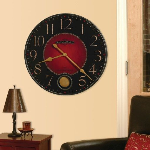 howardmillerredblack2 Cool Clocks Pinterest Rustic wall