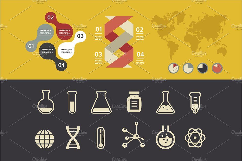 Chemistry Infographic By Marish On Creativemarket Lab