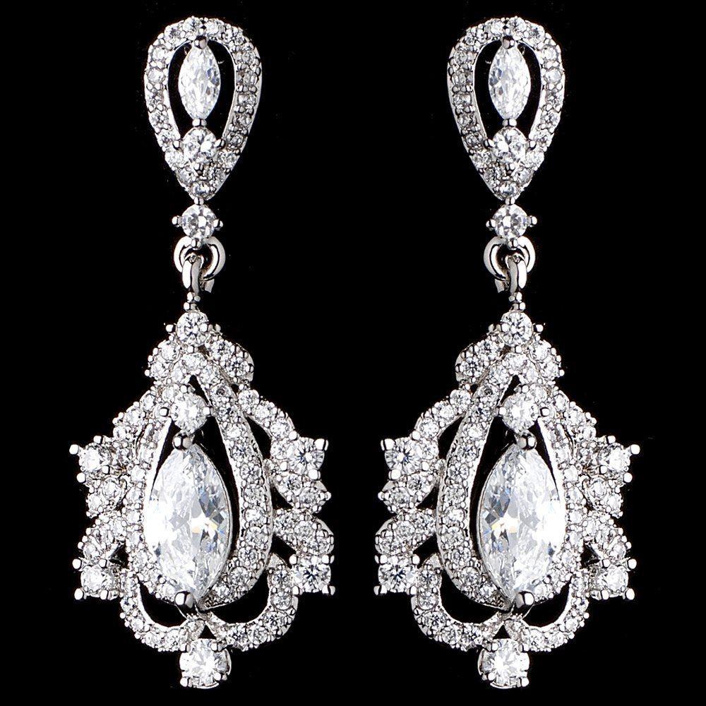 Cz vintage look wedding and formal earrings formal wedding and