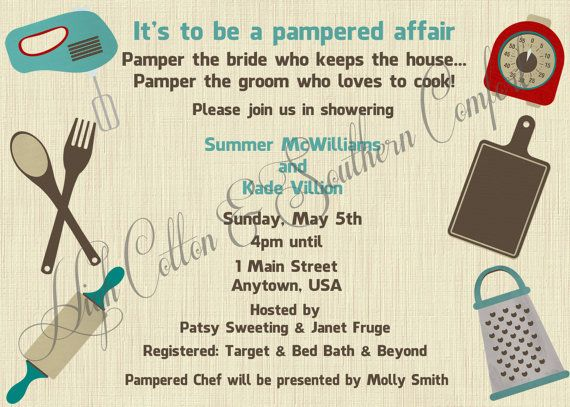 pampered chef inspired wedding shower by highcottonsouthernco 1250