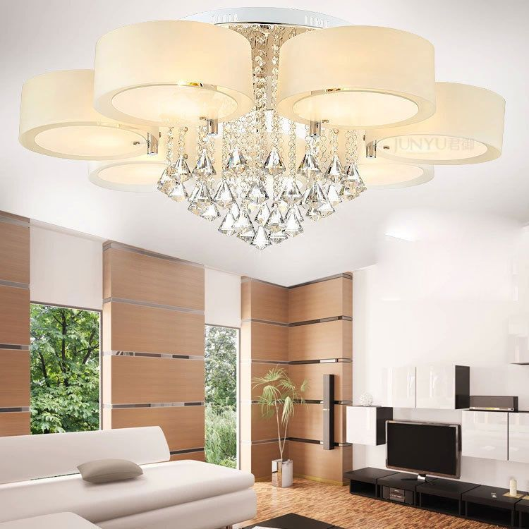 Modern 60 70 90cm Led Crystal Chandeliers Ceiling Lights Living Room