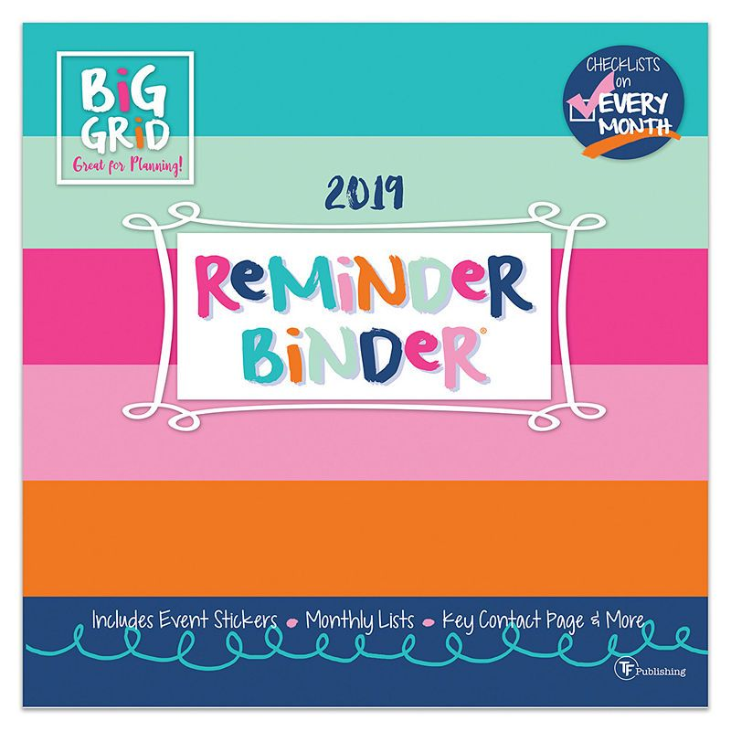 December Calendar 2019 For Binder Tf Publishing 2019 Reminder Binder Wall Calendar | Products