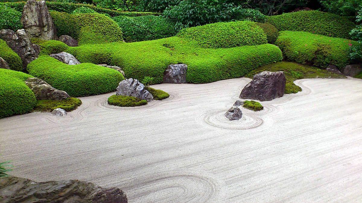 Ancient japanese zen gardens - Karesansui Japanese Garden In Meigetsuin Temple