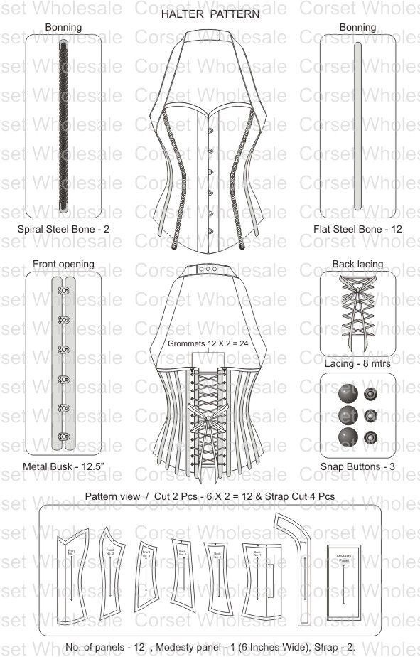 corset pattern - don\'t think I ll be ever doing this..just in case ...