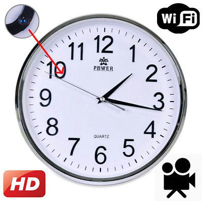 WiFi HD Spy Hidden Camera Wall Hanging Clock Video Recorder Motion