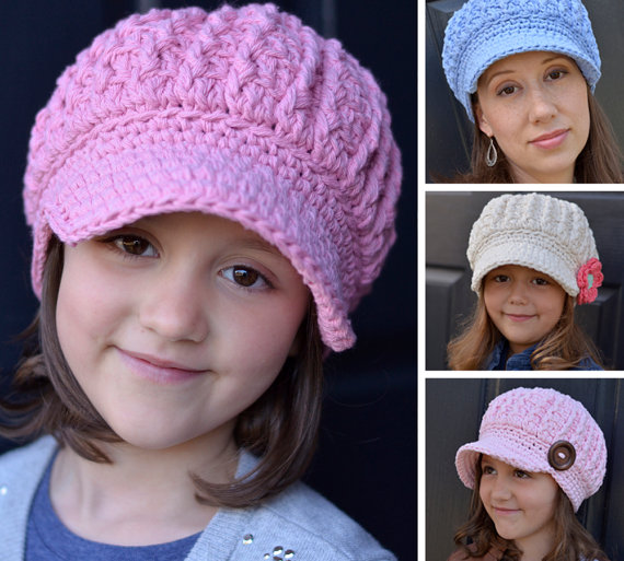 Crochet Pattern, Crochet Hat Pattern for Women, Women\'s Crochet Hat ...
