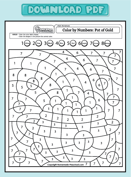 Get PDF | Winter /Christmas Color by Number Pages for Adults and ...