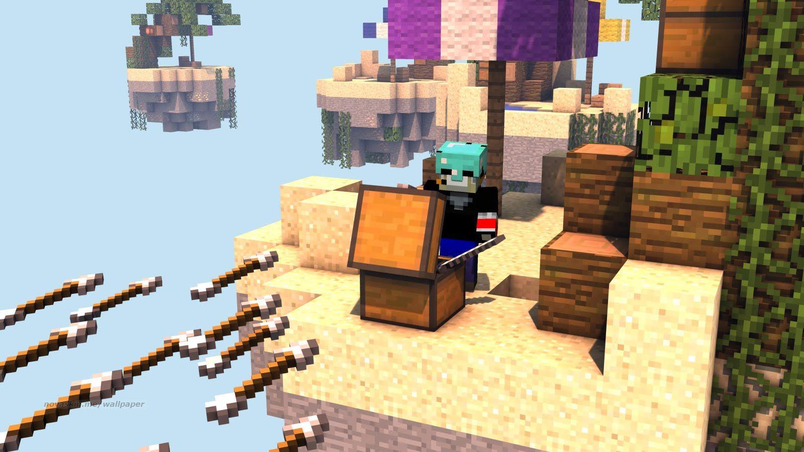 Minecraft Skywars Going Clutch For Real Howling Games Pinterest - Minecraft skywars spiele