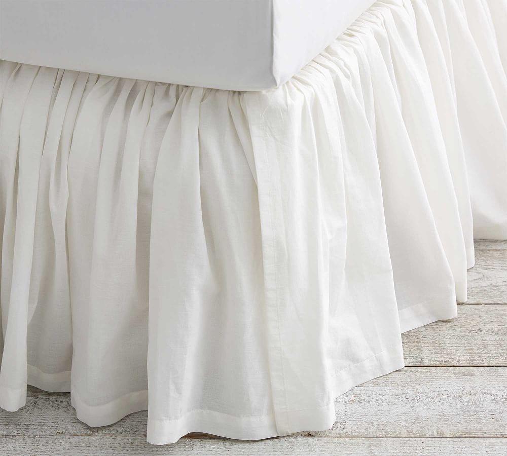 Voile Cotton Bed Skirt Cotton Bedding Adjustable Bed Frame