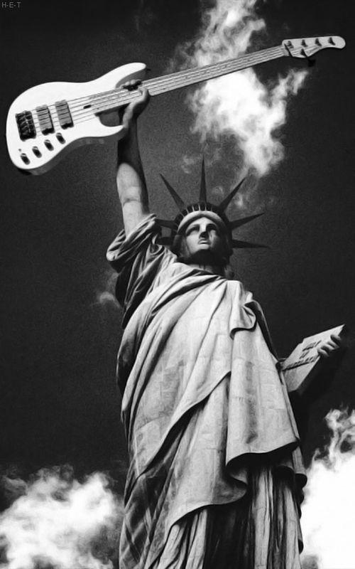 Fight Fire With Fire Bass Guitar Music Art Music Guitar