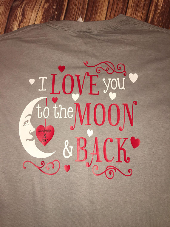 b9bd0baa6 I love you to the moon and back shirt / monogram Valentine's Day shirt /  Monogram shirt / Valentine'
