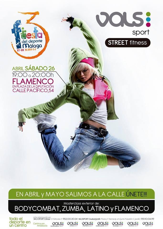 Esta tarde no puedes perderte la masterclass exterior de flamenco que organiza Vals Sport en C/Pacífico 54 ¡Todo el mundo a bailar!