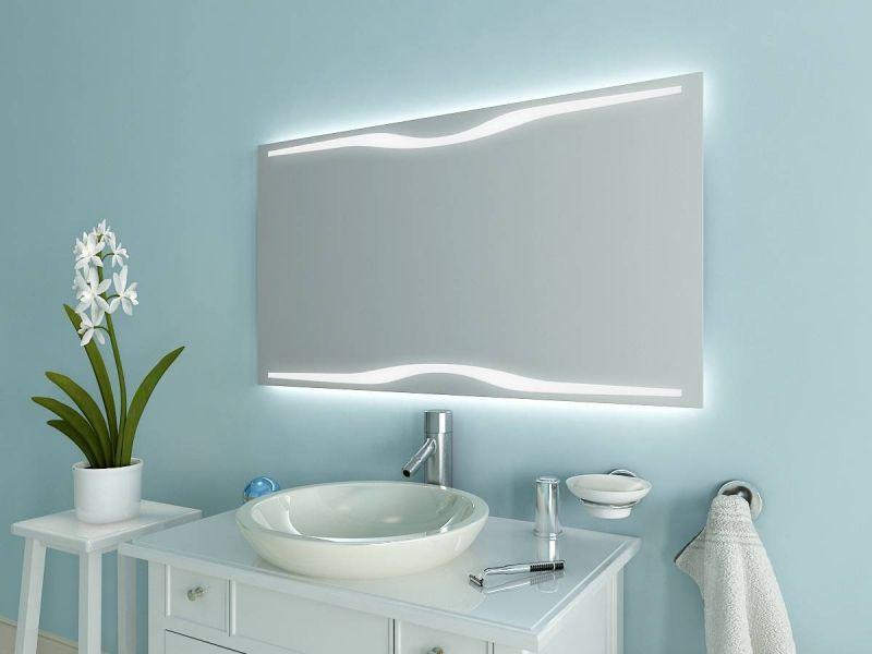 Schicker LED Badspiegel M551L2H von Spiegel21 Badspiegel mit - badezimmerspiegel mit led