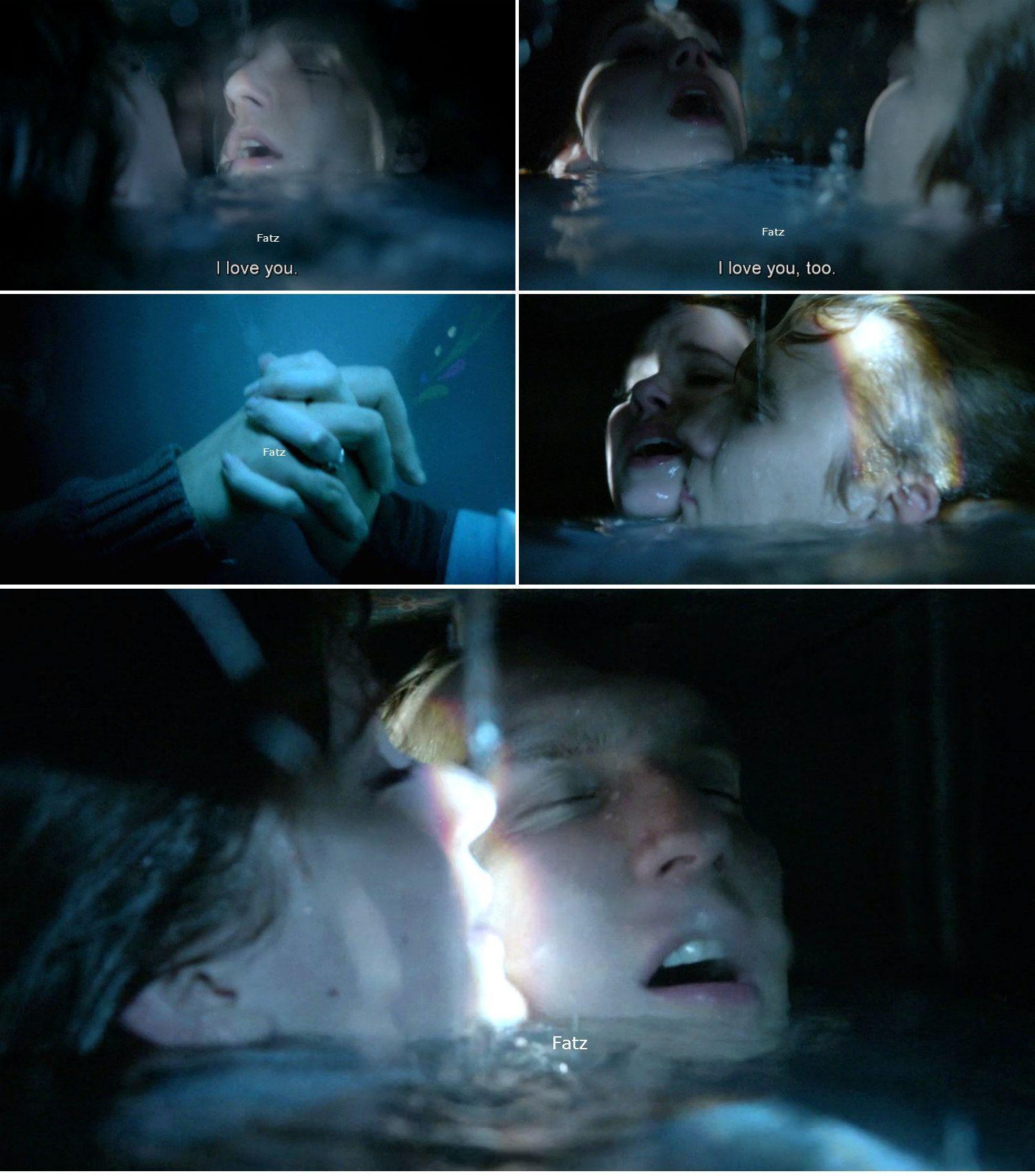 """""""I love you."""" Kristoff, """"I love you, too."""" Anna - 4* 9 """"The Fall."""" #ShatteredSight #OnceisFrozen"""