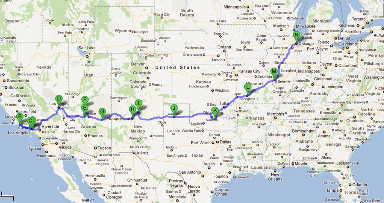 USA 2012 – CALI + ROUTE 66