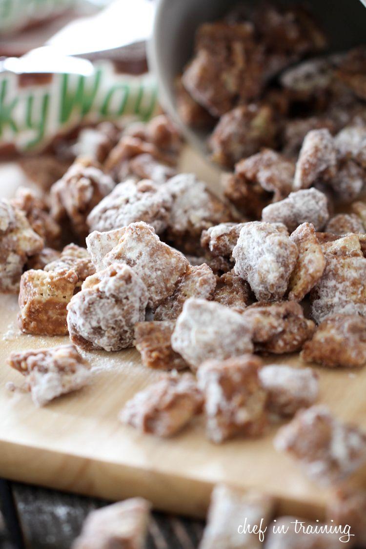 Milky Way Muddy Buddies Chef In Training Recipe Chex Mix Recipes Puppy Chow Recipes Chex Mix