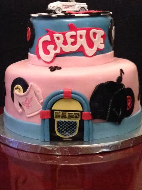 """You're the One that I Want, ooh ooh ooh ooh, honey!"" a Dee Miller cake"