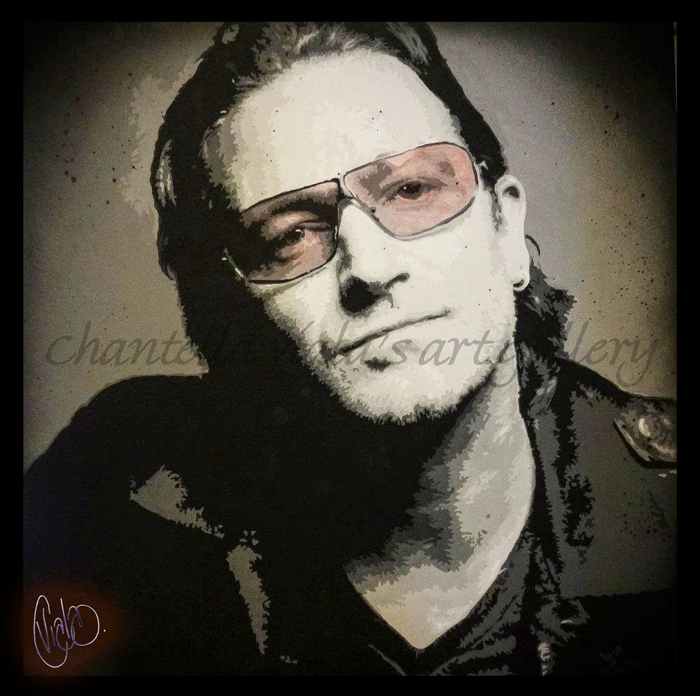 U2s Bono Pop Art Canvas Print 18x18 by ChantellaViala on Etsy