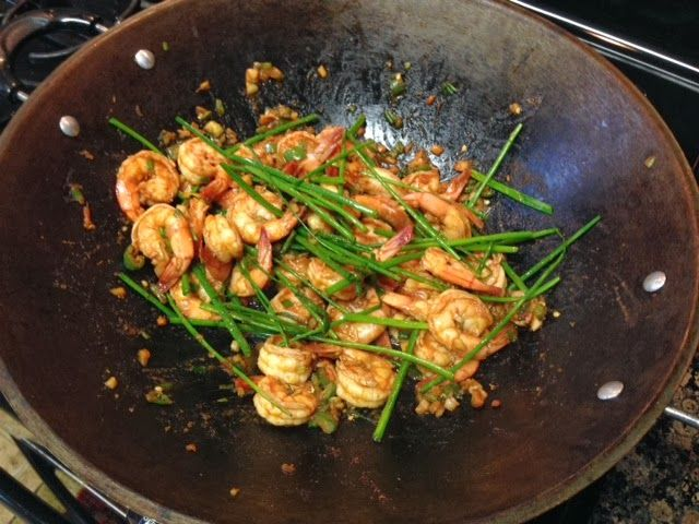 Culinarily Chic: Chili Ginger Shrimp with Chives