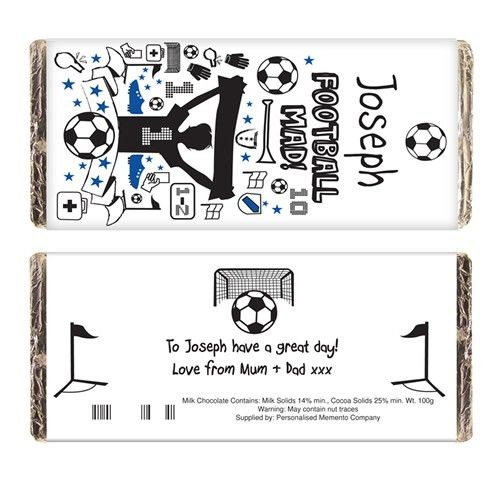 Personalised football chocolate bar from personalised gifts shop personalised football chocolate bar from personalised gifts shop only 599 negle