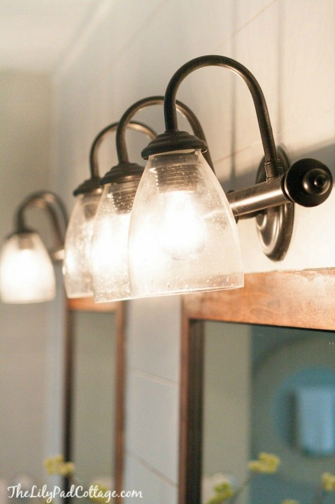 Spray Painted Light Fixture for a fast update to your home! | The Lilypad Cottage
