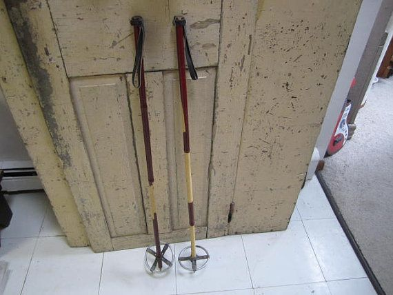 Hey, I found this really awesome Etsy listing at https://www.etsy.com/listing/209341746/vintage-bamboo-and-leather-ski-poles