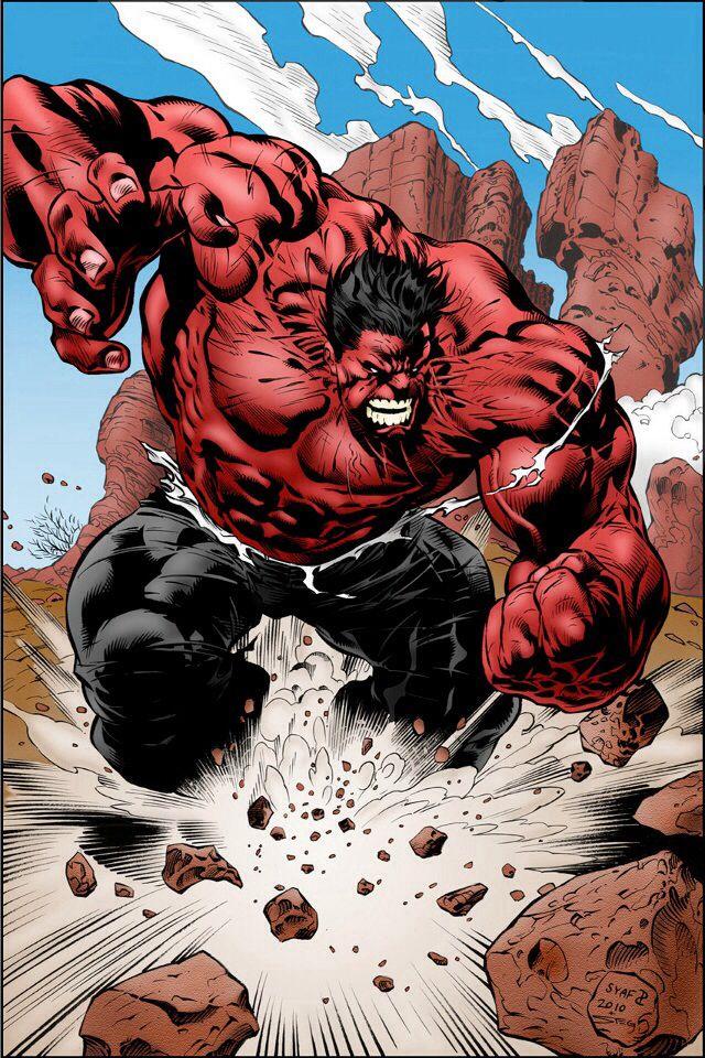 Red Hulk | Hulk comic, Red hulk, Hulk art