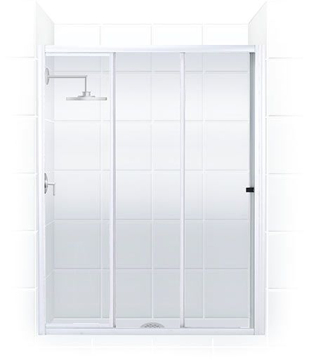 Products Serenity Tri Slide Framed Bypass Shower Doors Bypass Shower Door Shower Doors Coastal Shower Doors