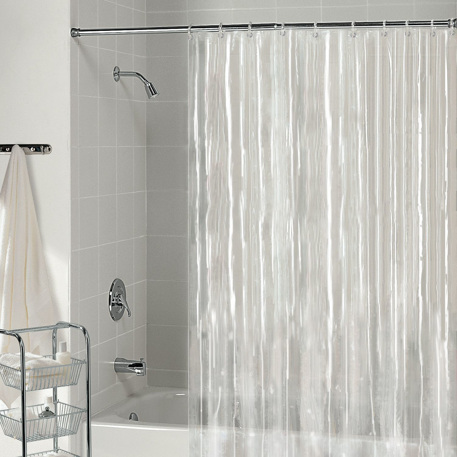 Extra Long Gray Shower Curtain Liner