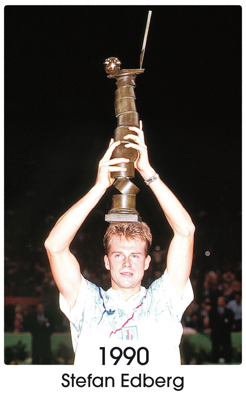 Stephan Edberg, 1990. Copyright FFT Tournoi de tennis