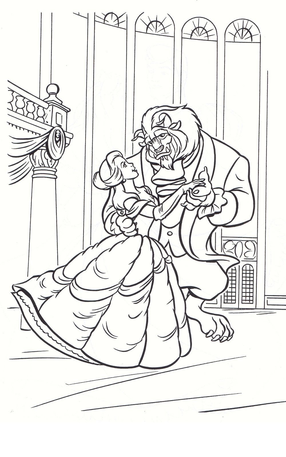 50 Beauty And The Beast Coloring Pages Rk8c Rose Coloring Pages Beauty And The Beast Drawing Coloring Pages [ jpg ]