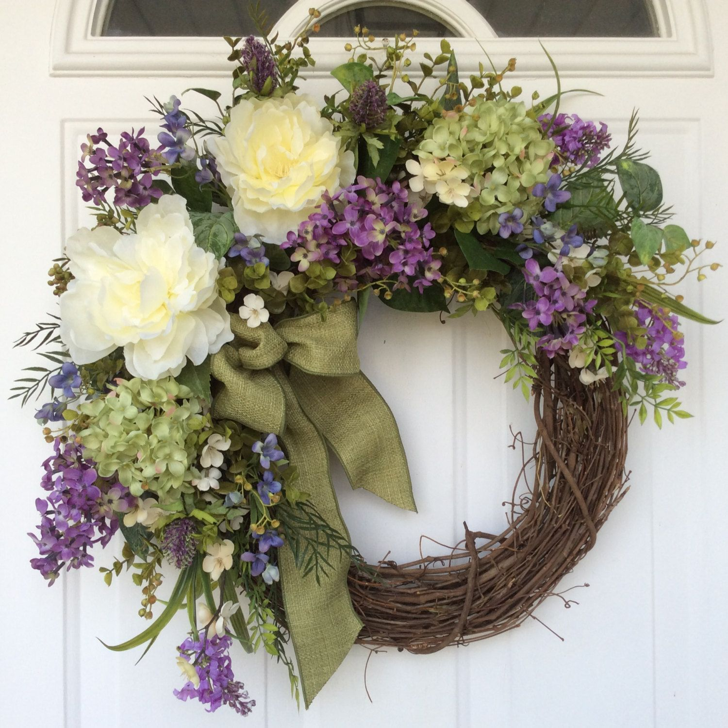 etsy by daisies front wreath birdcage hydrangeas door com wreaths homehearthgarden easter decor spring doors